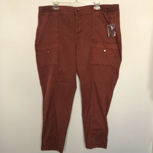 Sonoma Rust Capri Cargo Utility Pants 20W